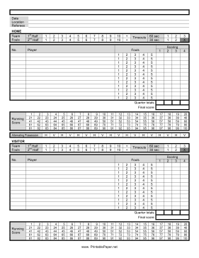 printable basketball score sheet this basketball score sheet helps you ...