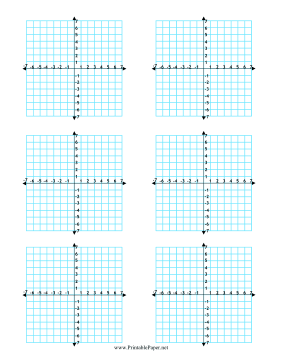 Printable Multiple Coordinate Graphs 6-per-Page