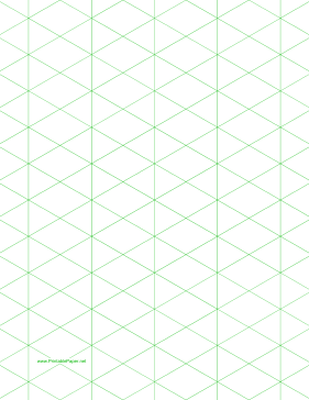 Isometric Graph Paper with 1 inch figures on letter sized paper Paper