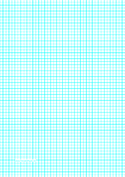 ... with one line per 5 millimeters and centimeter index lines on A4 paper