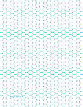 Witty image in printable hexagon grid