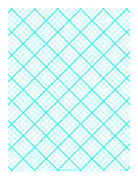 Printable Graph Paper for Quilting with 4 Lines per inch and heavy index lines