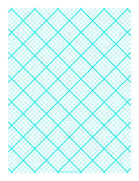 Printable Graph Paper for Quilting with 5 Lines per inch and heavy index lines