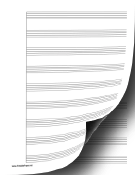 1 System of 9 Staves Music Paper paper