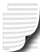 5 Systems of 2 Staves Music Paper paper