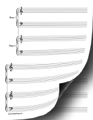 Piano Duet-2 Pianos in 4 Hands Music Paper paper