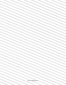 Slant Ruled Paper — Wide Ruled Left-Handed, Low Angle paper