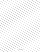 Slant Ruled Paper — Wide Ruled Right Handed, Low Angle paper